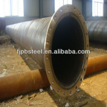 Spiral SAW steel pipe with flange