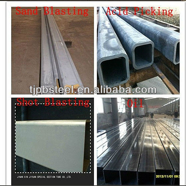 building material/galvanized square and rectangular steel pipe/made in China