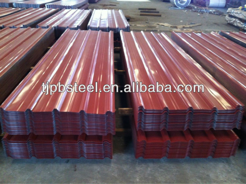 PPGI Corrugated sheet /galvanized color aluminum roofing sheet