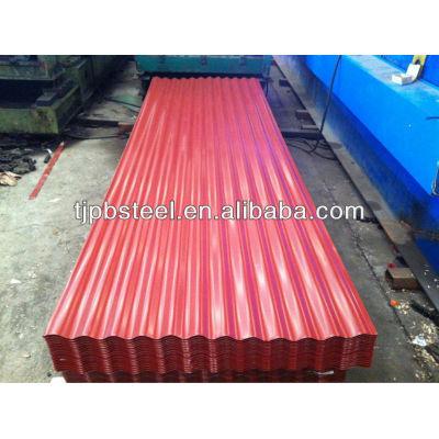 Zinc coated corrugated roofing sheet