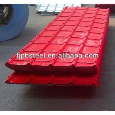 PPGI Corrugated sheet /galvanized color aluminum roofing sheet price per sheet