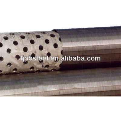 stainless and welded ASTM steel water well bridge slot screen for sale