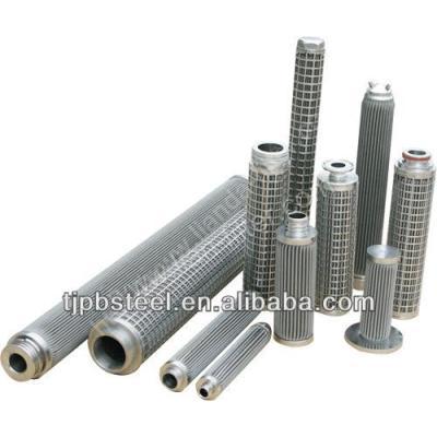 corrugated filter elements for industrial filtration
