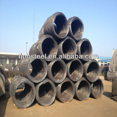 Low Carbon MS steel wire rod 5.5,6.5,7,8,9,10,11,12mm