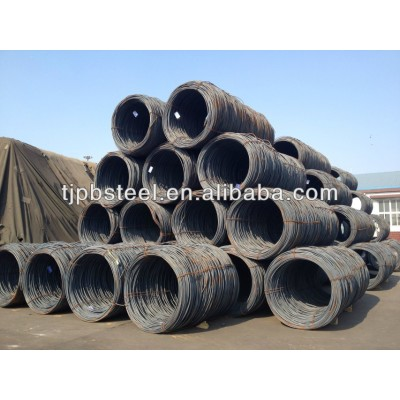 carbon steel wire rod/steel wire/5.5mm-14mm high quality steel wire in coil