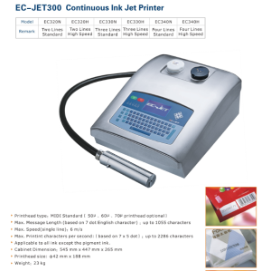 EC-JET300 Continuous Inkjet Mico Printer
