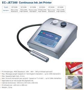 EC-JET300 Continuous Inkjet Mico Printer