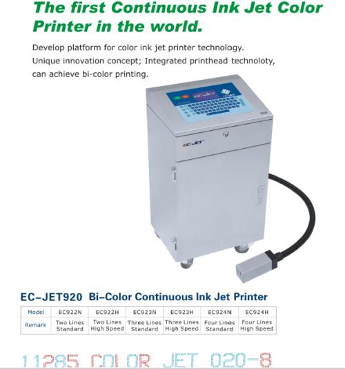 EC-JET 920 Bi-Color Continuous Ink Jet Printer