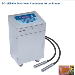 EC-JET910 Dual-Head Continuous Ink Jet printer