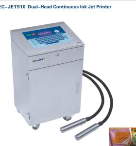 EC-JET910 Dual-Head Continuous Ink Jet printer