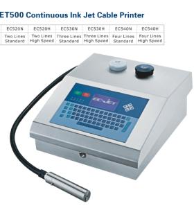 EC-JET500 Continuous Inkjet cable Printer