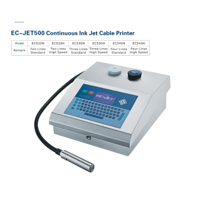 EC-JET500 Continuous Inkjet cable Printer