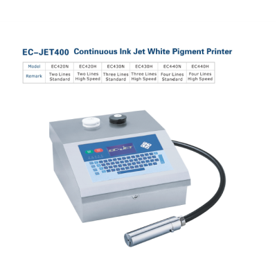 EC-JET400 Continuous Ink Jet White Pigment Printer