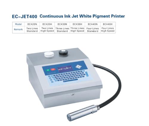 EC-JET400 Continuous Ink Jet White Pigment Printer