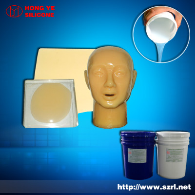 Addition cure life casting silicone rubber for mask