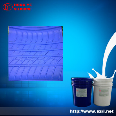 Low shrinkage tire molding silicone rubber