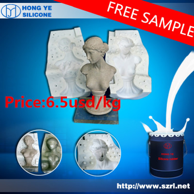 Liquid silicone for making molds for statue
