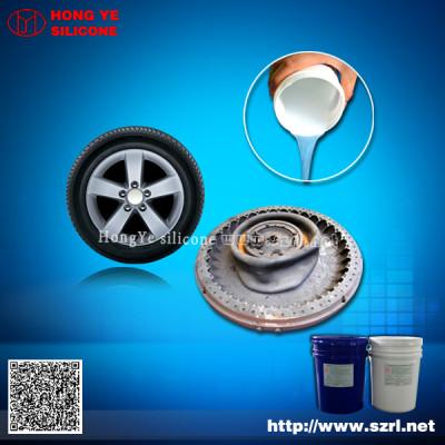 Low shrinkage tire molding liquid silicone