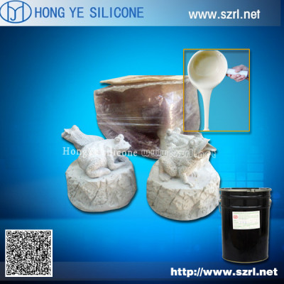 Fluidity liquid silicone rubber for statue molds