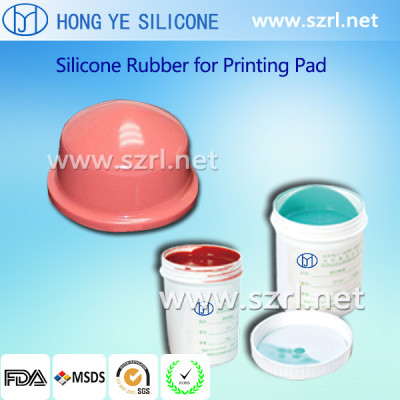 Good tensile and tear strength Pad printing silicone rubber,liquid material rubber for pads