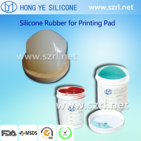 Good tensile RTV 2 silicone rubber for pad printing