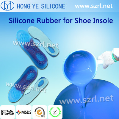 Addition silicone rubber for shoe insole making
