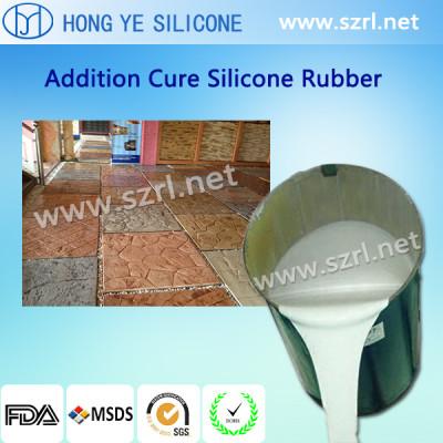 Brushing silicone rubber