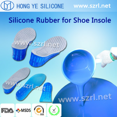RTV soft silicon rubber for shoe insole and foot wear
