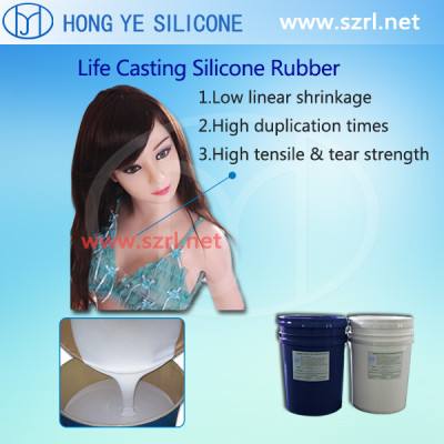 lifecasting silicone rubber for sex doll mkaing