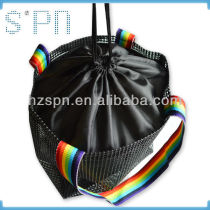 Plastic mesh drawstring pouch supplier