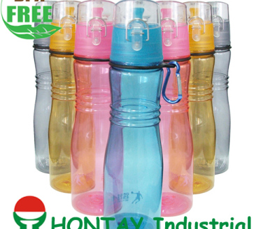 2013 new design shape BPA FREE plastic water bottle suitable for promotion