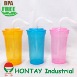 2013 new design BPA FREE kid plastic promotion cup with straw for promotion gift and promotion cup