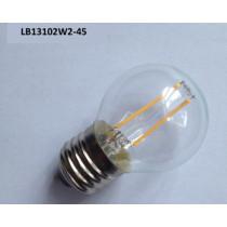 2W led filament bulb light LB13102W2-45