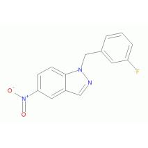 1-[(3-氟苯基)甲基]-5-硝基-1H-吲唑