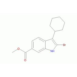 3-环己基-2-溴-1H-吲哚-6-羧酸甲酯