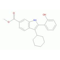 3-环己基-2-(2-羟苯基)-1H-吲哚-6-羧酸甲酯