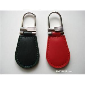 Leather HF RFID Keychain