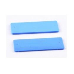 Etiqueta silicona RFID inteligente de lavandería, 860 ~ 960MHz RFID Etiquetas inteligentes