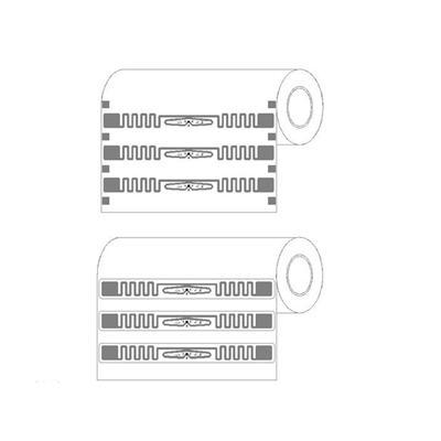 UHF RFID Impinj E51 Pegatina Etiquetas, 860 ~ 960MHz RFID etiqueta