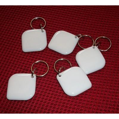 RFID钥匙扣菱形乳白色ISO14443A-NXP Mifare1 s50钥匙扣NFC标签NFC TAG