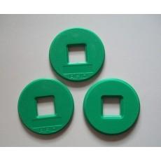 SLRFID巡更扣6色30MM圆NFC tag,NTAG203芯片NFC手机专用标签,兼容所有NFC手机