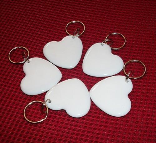 心形乳白MIFARE 1 S50透明钥匙扣IC透明异形卡NFC标签NFC透明卡