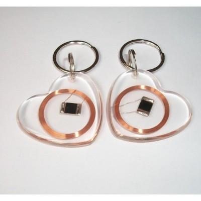 心形透明NXP NTAG203钥匙扣IC透明异形卡NFC标签NFC透明卡NFC TAG