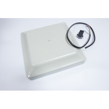 UHF RFID card reader 6m long range,integrated 8dBi circular polarized UHF Far Field antenna Read 6M Integrative UHF RFID Reader