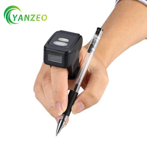 Yanzeo R1800 Wearable Ring Wireless Finger Mini Bar Code Reader Portable Scanner Wearable 1D Mini Ring Barcode Scanner