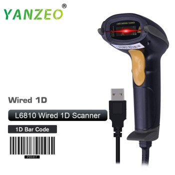 Yanzeo L6810 Handheld USB Barcode Scanner Portable Wired 1D Laser BarCode For Express Delivery