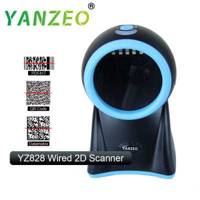 Yanzeo YZ828 Desktop High Speed Laser Omni-Directional High Definition Photo 2D BarCode Scanner