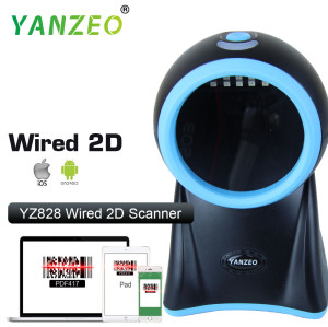 Yanzeo YZ828 Desktop High Speed Laser Omni-Directional High Definition Photo 2D BarCode Scanner