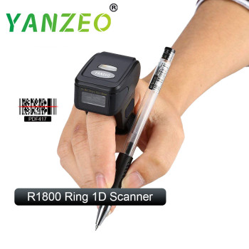 Yanzeo R1800 Portable Bluetooth 1D Wearable Ring Finger Scanner Wireless Mini Barcode Scanner Reader