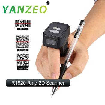 Yanzeo R1820 Portable Bluetooth Wearable Ring Wireless Finger Mini QR Bar 2D Barcode Scanner